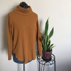 Anthropologie Maeve Ainsley Thermal Turtleneck Top